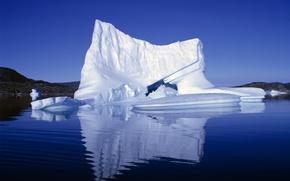 Картинка лед, белый, снег, синий, айсберг
