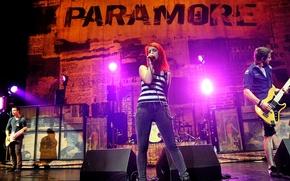 Обои музыка, music, концерт, paramore, williams, hayley, pop-rock, хейли, josh, уильямс, farro, davis, поп-рок, jeremy