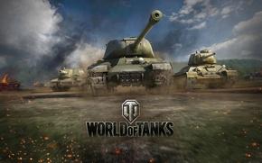Картинка арт, танк, СССР, танки, Т-34, WoT, Мир танков, World of Tanks, СУ-152