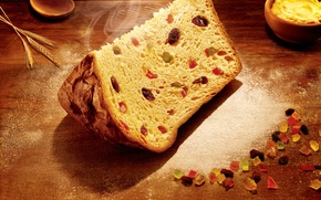 Обои christmas, nuts, bread