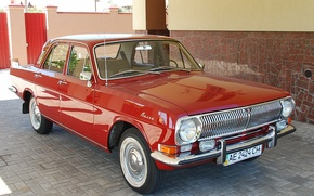Картинка красная, Волга, avto, CCCP