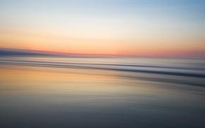 Картинка закат, берег, Цвет