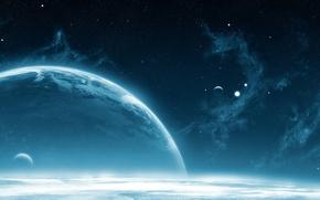 Обои звезды, атмосфера, Планета