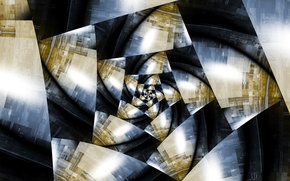 Картинка свет, цвет, спираль, объем