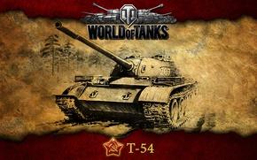 Картинка таракан, СССР, танки, Т-54, WoT, World of Tanks