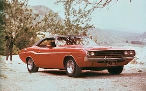 Картинка Dodge, мускул-кар, машина, передок, 1971, красавец, Challenger