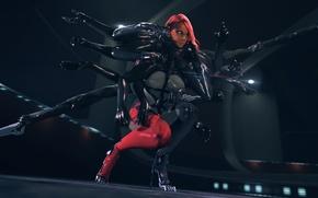 Картинка девушка, игра, руки, киборг, Metal Gear Rising: Revengeance, cyborg, Mistral, mercenary, Desperado Enforcement LLC, desperado