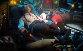 Картинка Team Fortress 2, medic, fan art, morgue