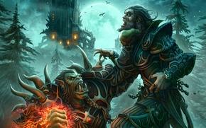 Картинка Человек, World of Warcraft, Орк, Варлок, Чернокнижник, Лок