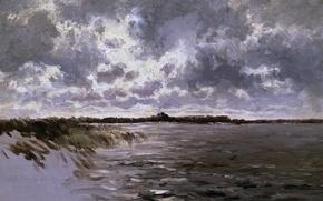 Картинка пейзаж, Карлос де Хаэс, Озеро в Голландии