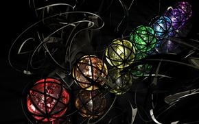 Картинка красный, шары, черный, фиолетовый.......