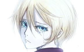 Картинка мальчик, арт, голубые глаза, слёзы, плачет, Тёмный дворецкий, Kuroshitsuji, Alois Trancy, Алоис Транси, Black Butler, …