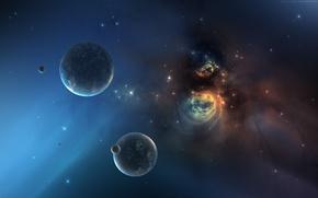 Картинка космос, звезды, пространство, планеты, star, nebula, planet, starfield