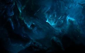Картинка космос, туманность, звёзды, бездна