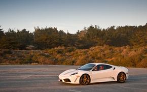 Обои ferrari, f430 scuderia, white, феррари, ф430
