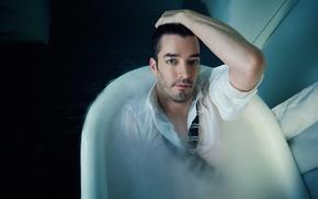 Картинка ванна, рубашка, актёр, Jonathan Silver Scott