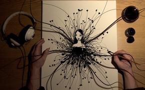 Обои девушка, рисунок, рабочий стол, дектоп