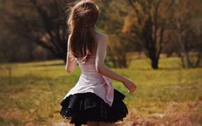 Обои лето, девушка, платье