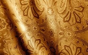 Картинка узоры, текстура, ткань, орнамент, коричневая