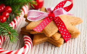 Обои Новый Год, New Year, праздник, Christmas, Рождество, печенье, леденцы
