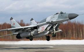 Картинка ВВС России, одноместный, Fulcrum, ОКБ МиГ, МиГ-29СМТ, лёгкий фронтовой истребитель, российский многоцелевой истребитель четвёртого поколения, …