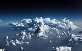 Обои Небо, Облака, Кучевые