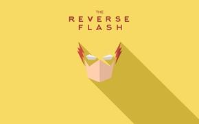 Картинка надпись, yellow, желтый текст, Reverse Flash, обратный Флэш