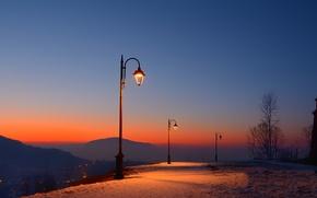 Картинка twilight, romania, brasov fortress