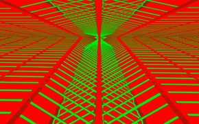 Картинка линии, отражение, краски, объем