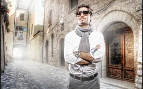 Картинка фон, улица, мужчина