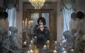 Картинка halloween, spirit, death, bones, spooky, seance