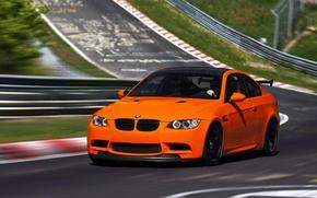 Картинка BMW, Оранжевая, БМВ, Orange, Трасса, E92, GTS