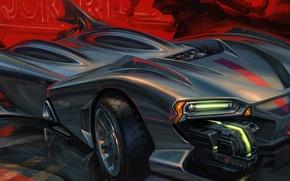 Картинка дизайн, стиль, концепт, Футуристический автомобиль