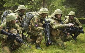 Картинка оружие, солдаты, камуфляж, экипировка, амуниция, постановка задачи