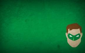 Картинка зеленый, минимализм, супергерой, зеленый фонарь
