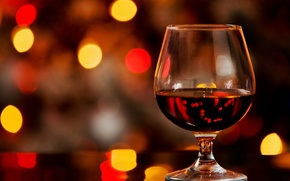 Картинка glass, bokeh, cognac, alcohol