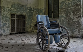 Картинка окна, тень, солнечный свет, отказались, больничная палата, инвалидная коляска