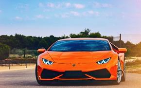 Картинка Lamborghini, оранж, Huracan