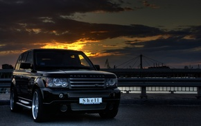 Обои Range Rover, HDR, Пейзаж, Shell, Небо