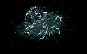 Картинка роза, Broken Flower, осколки стекла, Разбившийся цветок