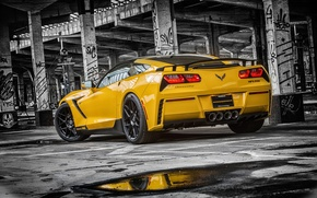 Обои chevrolet, corvette, c7, stingray, hpe700, 2015, ruffer, muscle, car