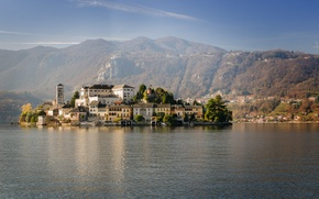 Картинка Италия, Piedmont, Lagna, San Giulio, Orta Lake