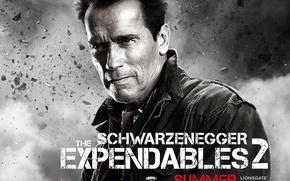 Обои The Expendables 2, Неудержимые 2, Арнольд Шварценеггер, Arnold Schwarzenegger, Trench