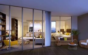 Картинка дизайн, город, дом, стиль, интерьер, Australia, жилое пространство