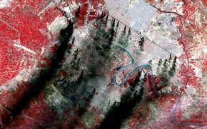 Картинка река, фото, текстура, Земля, панорама, NASA