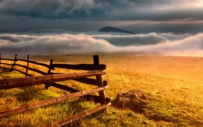 Картинка пейзаж, горы, забор