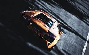 Картинка Lamborghini, cars, orange, track, races