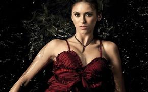 Картинка The vampire diaries, Нина Добрев, брюнетка, девушка, Nina Dobrev, актриса, Дневники вампира