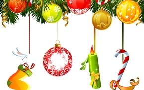 Обои новый год, праздник, 2012