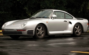 Картинка суперкар, Porsche 959, дизайнер Луиджи Колани, группа B